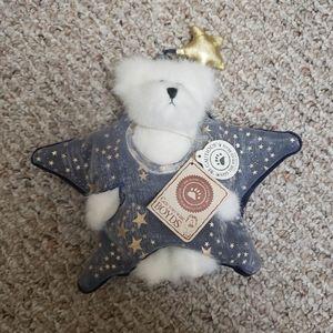 2/$10 NEW Boyds Bears Stella White Plush Bear Star